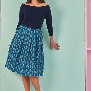 Eshakti Custom Leaf Print Dress, Size 6-8 Med